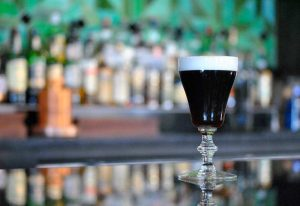 Irish coffee at Macallans Public House in Brea, CA