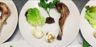 Seder plate at Akasha in Culver City