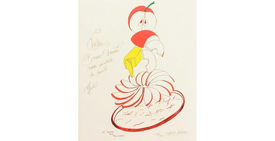 Tarte Tatin drawing by Michel Richard