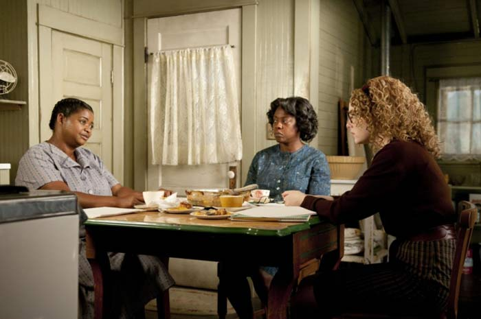 Viola Davis, Octavia Spencer, and Emma Stone in The Help