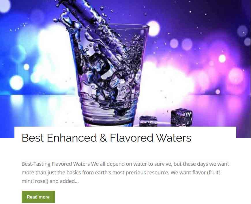 Best Enhanced & Flavored Waters
