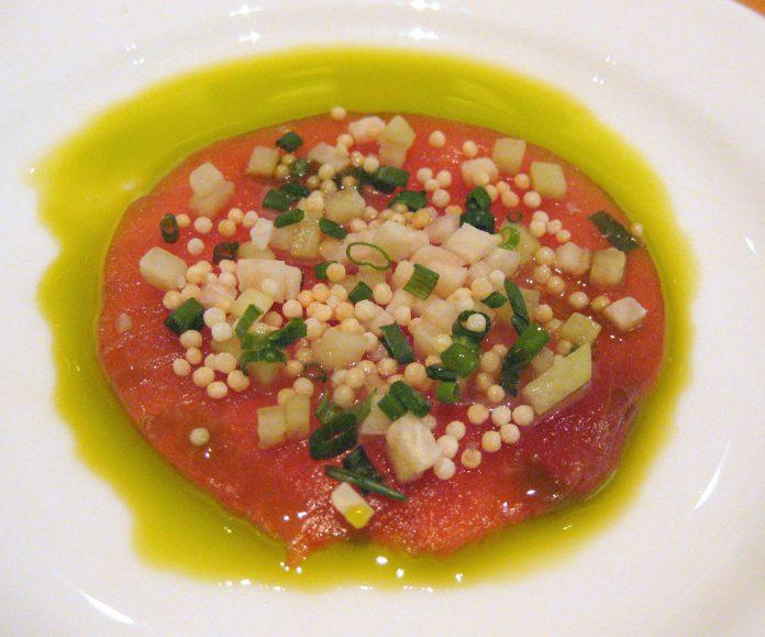 Asian-style tuna carpaccio