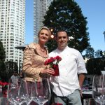 Chef Lincoln Fuge of Beso with Sophie Gayot