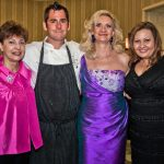 ALF Board member Carol Cantagallo, chef Kevin Mehann, Sophie Gayot, VP of the greater LA division ALF Taly Fantini