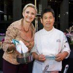 Chef Shigefumi Tachibe of Chaya with Sophie Gayot
