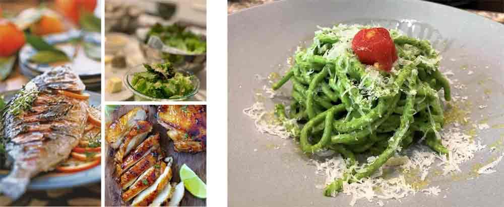 Grilled fish | Pistou pasta