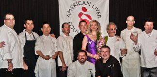 Sophie Gayot with the chefs