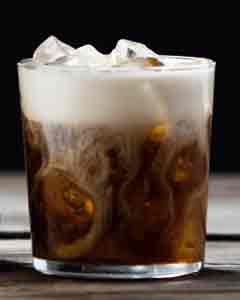 White russian cocktai; recipe