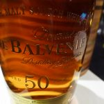 Detail of The Balvenie Fifty bottle