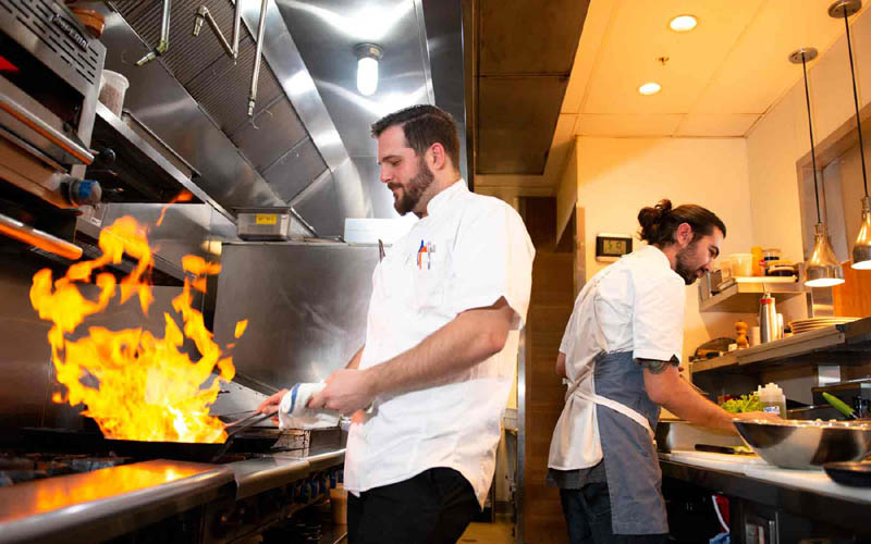 Whitestone executive chef Tony Celeste (left)