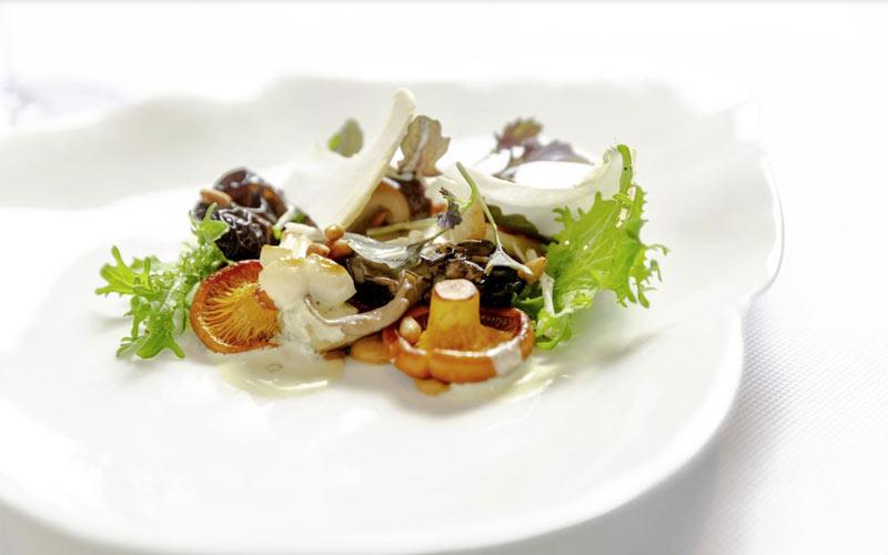 Jean-Georges warm mushroom salad