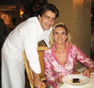 Chef Yannick Alléno with Sophie Gayot