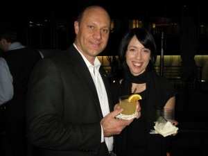 Alain with Gillian Cook, Brand Manager for Johnnie Walker Scotch Whisky