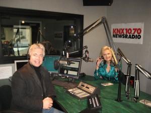 Frank Mottek & Sophie Gayot in the KNX studios