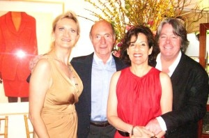 Husband and wife Michael and Kim McCarty with father and daughter André and Sophie Gayot