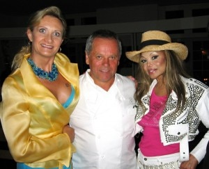 Latoya Jackson with Wolfgang Puck and Sophie Gayot
