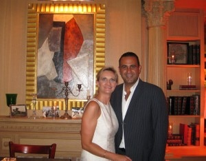 Sam Nazarian with Sophie Gayot at XIV restaurant