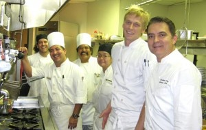 Chef Andreas Nieto (right) and his team