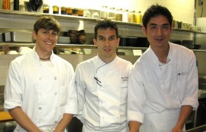 Chef Brian Redzikowski with his sous chefs