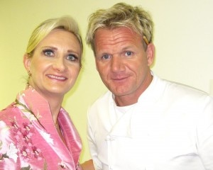 Chef Gordon Ramsay with Sophie Gayot