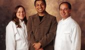 Chef-owners Sarah Stegner and George Bumbaris, along with Rohit Nambiar (center), bring Prairie to the city.