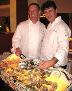 Chef Joe Miller & Maître Ecailler Christophe Happillon at Joe's restaurant