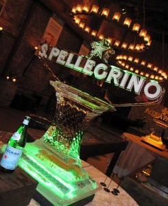 S.Pellegrino & Acqua Panna ice sculptures