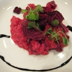 Locanda Del Lago: Dolcelatte Gorgonzola risotto with market red & gold beets