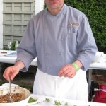 Chef Chris Prosperi, from Metro Bis, Simsbury, CT, serving crab