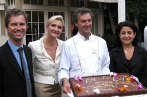 Consul General of France David Martinon, Sophie Gayot, pastry chef Yvan Valentin, Christine Ourmières, Air France Vice President & General Manager USA