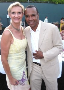 World champion Sugar Ray Leonard with Sophie Gayot