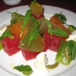 A summery salad made of melons