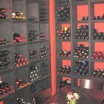 A private room in the wine cellar