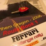 Ferrari rally route book