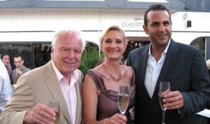 Mayor Richard Riordan, Sam Nazarian and Sophie Gayot
