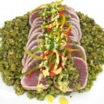 Tuna with green sauce