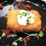 Kani koro; Japanese style crab croquette with tartar sauce