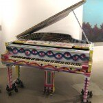 Piano painted by New York artist Kenny Scharf
