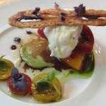 Burrata heirloom tomato salad