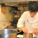 Chef Brian Redzikowski of BondSt Beverly Hills cooking at Test Kitchen