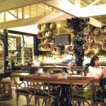 Family-style table near the bar