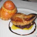 Sautéed La Belle Farms foie gras with fig and shallot jam and petite brioche maison