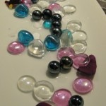 Colorful glass marble table decorations