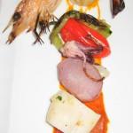 Mixed grill of select ocean fish, shellfish and blue prawns