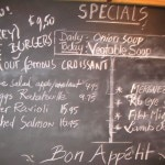 The specials menu at Maison Richard