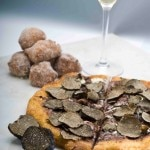 Triple chocolate truffle pizza