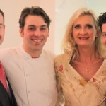 From left to right: general manager/sommelier Eric Espuny, chef David Féau, Sophie Gayot and sous chef Alexandre Ageneau