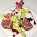 Tuna belly with argan oil ravigote, green apple and 62-degree quail egg