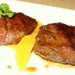 Braised veal cheeks with California oranges