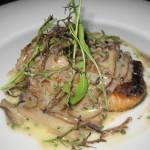 Sautéed black cod belle meuniere with sautéed mushrooms, butter, lemon and parsley